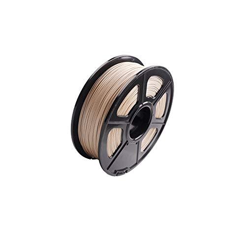 H.Y.FFYH Druckerzubehör 3D Warhorse Echtholz PLA 3D-Drucker Filament Holz Filament 1,75 mm, 1 kg (2,2 Pfund) Spulen-Maßgenauigkeit Holz Filament -