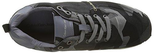 Calvin Klein Jeans Everly, Espadrilles Homme Gris (Dark Grey/Grey)