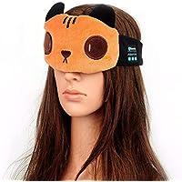 Preisvergleich für JIAO Bluetooth Augenmaske Cat Sleep Bluetooth Kopfhörer Wireless Headset Breathable Bluetooth Augenmaske für Kinder...