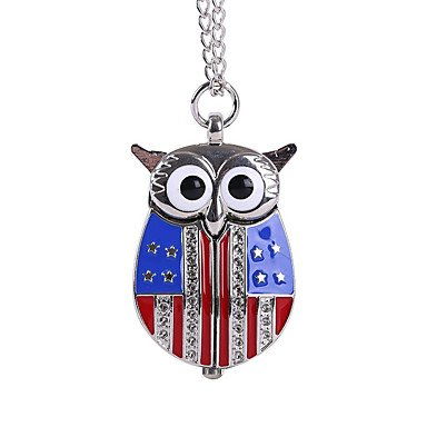 unisex-pocket-watch-us-flag-silver-popeyes-cute-owl-trumpet-shiying-huai-table-gender-for-lady-