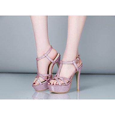 LvYuan Da donna Sandali Comoda Cinturino alla caviglia Finta pelle Estate Formale Serata e festa Comoda Cinturino alla caviglia A stilettoOro blushing pink