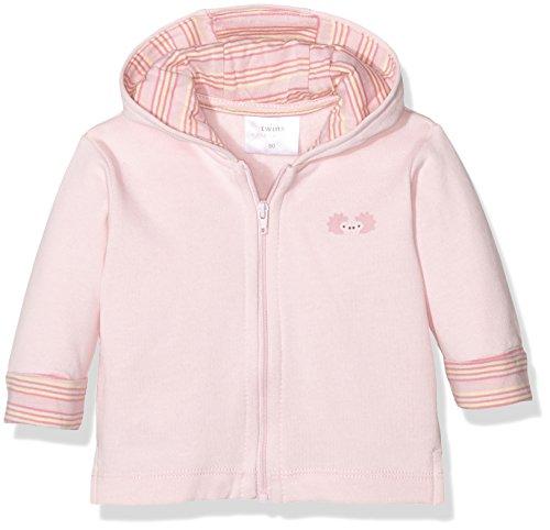 Twins Baby-Mädchen Sweatjacke mit Reißverschluss und Kapuze, Rosa (Rosa 3737), 6-9 Monate (Herstellergröße: - Baby Jacke Mädchen Kapuzen