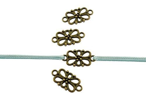 """12 filigrane Verbinder """"Blume"""" in antik bronzefarben von Vintageparts, DIY-Schmuck"""