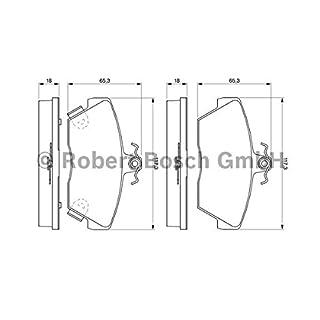 Bosch 0 986 424 244 Brake Pad Set, Disc Brake