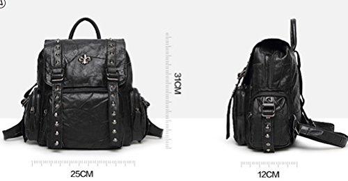 Yan Show Damen Krokodil Muster Tasche Handtasche Diagonale Paket Tasche /Braun Braun