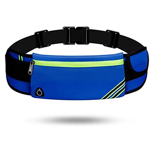 Lauftasche für Handy, Laufgürtel Schlüssel Hüfttasche, Sport Jogging Fitness Gürtel iPhone 6 7 Plus + Samsung Galaxy S7 Edge S8 + Plus Huawei HTC ZTE UVM. (E,Einschichtiger Reißverschluss)