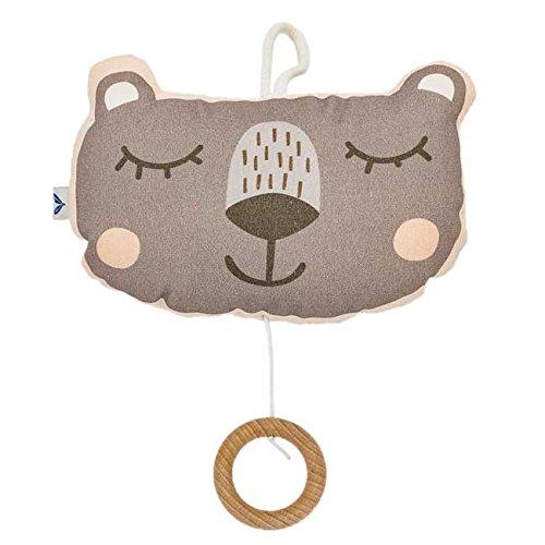Spieluhr Bär Baby (puder)