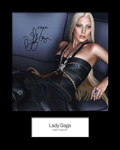 Frame Smart Lady Gaga #3 | Signierter Fotodruck | 10x8 Größe passt 10x8 Zoll Rahmen | Maschinenschnitt | Fotoanzeige | Geschenk Sammlerstück