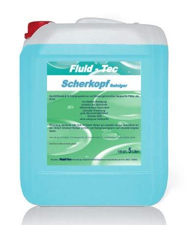 Fluid-Tec 5 Liter Scherkopfreiniger/Reinigungsflüssigkeit f. Philips Elektro Rasierer/Nachfüllflüssigkeit Reinigungskartusche/Reinigungsstation Serie 5000/7000 / 8000/9000, Jet clean, Smart Clean