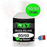 Base neutre - 250 ml - PG/VG - 50/50 - DIY E LIQUIDE - Vapfusion - Sans nicotine ni tabac