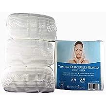 Toallas Desechables Peluquería PlanetHair Store® 40x80 Blancas Spunlace-Spunpet® Baratas 50 gramos paquetes