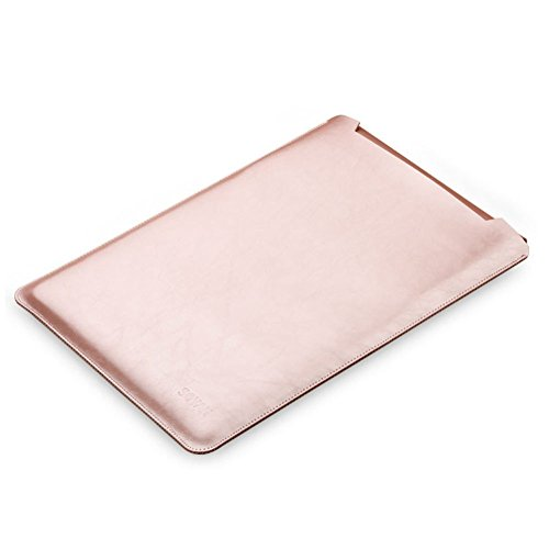 ele ELEOPTION Mikrofaser Leder Laptop Sleeve Slim Case Cover Luxus PU Ledertasche Elagant Schutzhülle integriert Mousepad kompatibel mit Macbook 12""