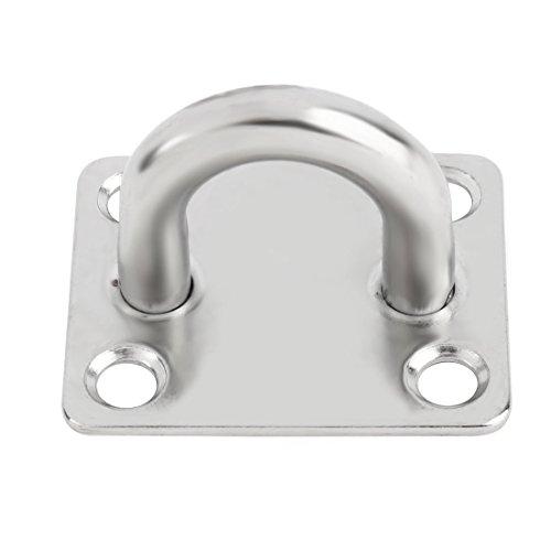 sourcingmap 304 rostfrei Stahl schließend Decke Kupplung Hänger silberfarben 60mm x 50mm x 40mm (1 2-zoll-seil-licht)