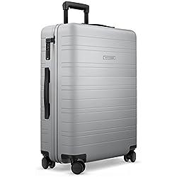 HORIZN STUDIOS Reisekoffer | Check-In Trolley Model H | Hartschale 65 cm, 65 L, mit 4 Rollen und TSA Schloss (Light Quartz Grey)