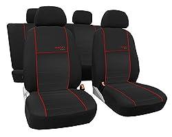 Autositzbezüge, Schonbezüge TREND LINE passend für CORSA (Model ab A - bis D) - Universal Stoffsitzbezug zum SONDERPREIS!!! In diesem Angebot ROT.