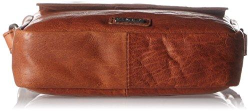 Spikes & Sparrow Damen Crossover Bag Umhängetasche, 5x23x19 cm Braun (Brandy)