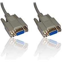 16'ft 5 m Null Modem seriale RS232 DB9 femmina/RS-232, 9 Pin a 9 Pin, lunghezza cavo: