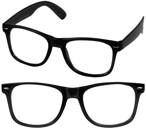 Trendige Nerd Brille Ohne Stärke in Schwarz