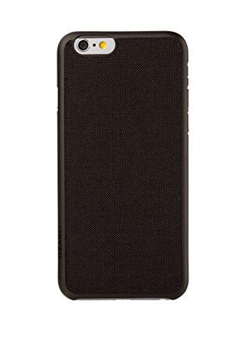 Ozaki OC543BR Canvas Fashion Hülle mit Stoffrückseite für Apple iPhone 5/5S schwarz schwarz
