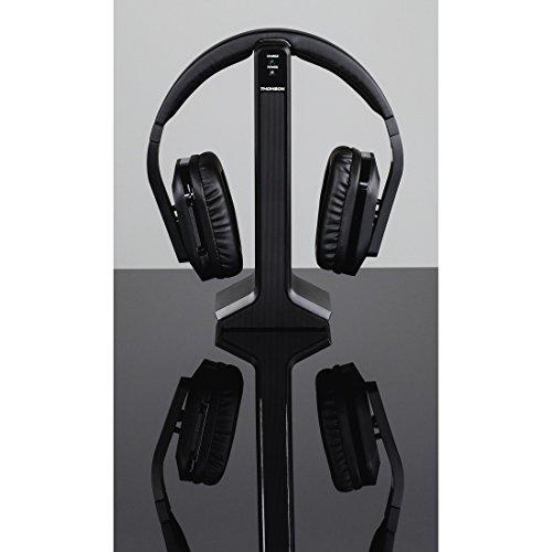 Thomson Digitaler Over-Ear Funk-Kopfhörer (z.B. für TV/HiFi/Smartphone/Tablet/PC/Laptop, mit Ladestation, kabellose Reichweite 20m) Wireless Stereo Headphones, Fernseh-Kopfhörer schwarz - 3
