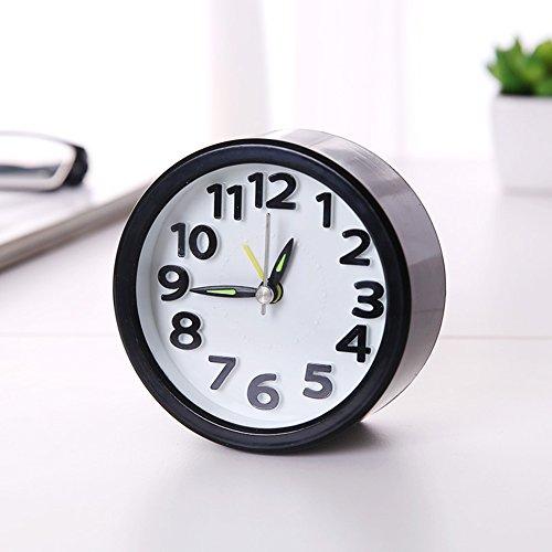 Reloj Despertador de Cabecera, Reloj Silencioso Portátil, Reloj Despertador de Cuarzo sin Tictac, Reloj...