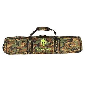 Sport Tent-Professionelle Snowboardtasche Skitasche Set mit Schuhfach/Helmfach Snowboardbag Gepolsterter Skisack Board Bag Space Sack 156cm/166cm