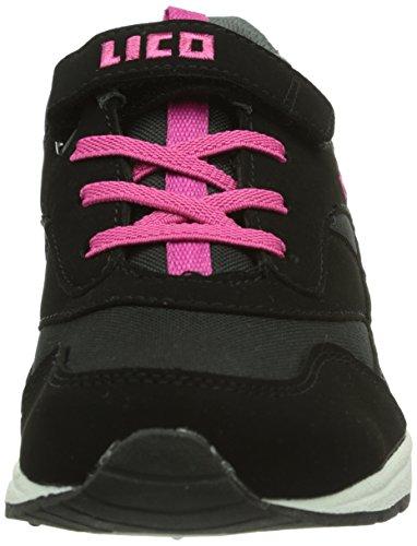 Lico Cool Vs, Baskets mode fille Noir (Schwarz/Pink)