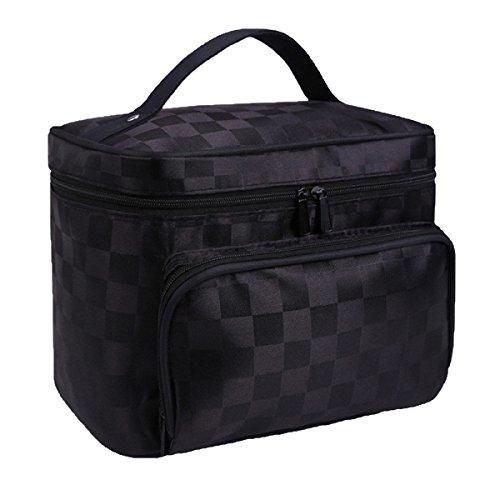Große Größe Kosmetik Taschen Mit Qualität Reißverschluss Einzigen Schicht Reise Make-up Taschen Black