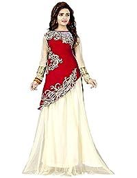 G Stuff Fashion Women Velvet semi-Stitched Lehenga Choli (TAA_Red_Zoya_2_Free Size)