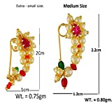 Vama Fashions Maharashtrian Nath Clip on Nose Ring Combo Without Piercing for Women