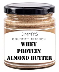 Jimmy's Gourmet Kitchen Almond Butter Whey Protein (Buy 2 get 1 Free)(410gX3) Small Batch Stone Grind Zero Oil