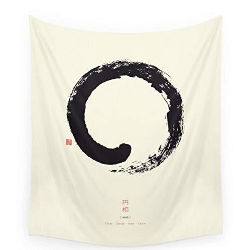 LINMI Alta qualità Enso/Giapponese Cerchio Zen Copertura Tapestry Telo da Spiaggia Tiro Coperta Picnic Yoga Mat Tessuti Decorazione della Casa 150 * 130 cm
