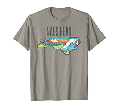 Nags Head State of North Carolina Outdoors Graphic  T-Shirt -