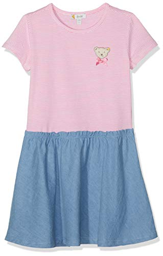 Steiff Mädchen Kleid, Rosa (Morning Glory 7013), Herstellergröße:110 - Mädchen-rosa-jersey-kleid
