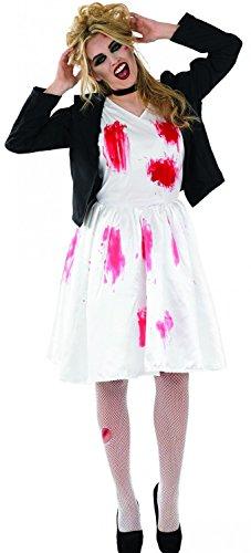 Dead Rock Chick Bride Adult Womens Halloween (Chick Kostüm Rock Halloween)