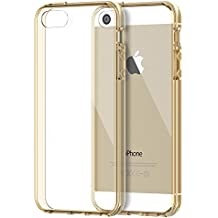 Funda iPhone SE, JETech Apple iPhone 5 5s SE Funda Bumper Funda de Amortiguación y Anti-Arañazos Espalda Case Cover para Apple iPhone 5 5S SE (Oro)
