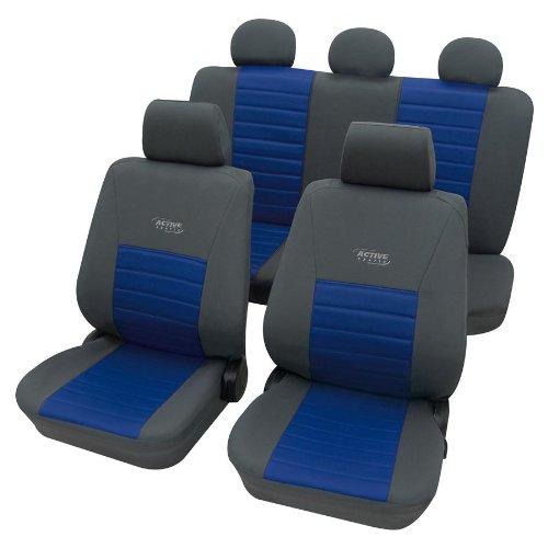 Preisvergleich Produktbild Eco Class Activ Sports blau 11tlg. Lederlook Sitzbezug Schonbezüge Schonbezug Autoschonbezug