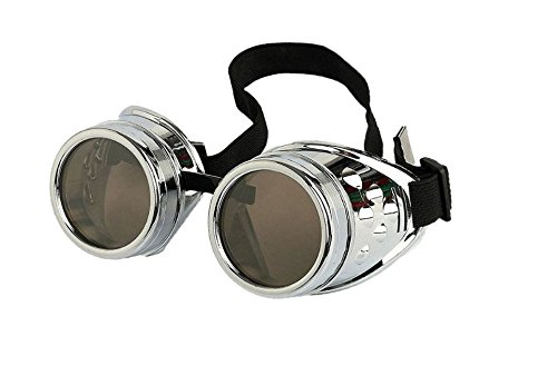 Steampunk Antique Copper Cyber Goggles Rave Goth Vintage Victorian like Sunglasses all pictures (goggles studs silver)