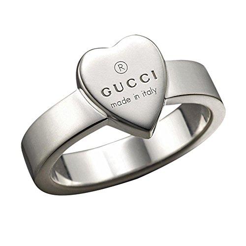 Gucci Damen-Ring mit graviertem Herz Sterlingsilber Gr.58 YBC22386700158