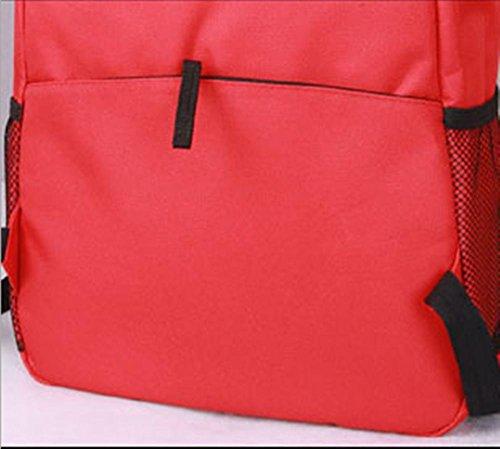 Xiuxiandianju 20-35L zaino single uomini e donne gli studenti in un solido colore borse della chiusura lampo , fruit green Red