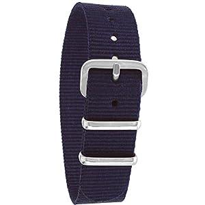 Pacific Time Unisex Nylon Uhrenarmband blau 10000