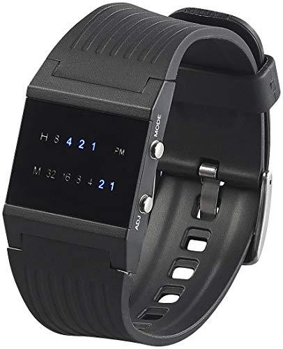St. Leonhard Herren Uhr Digital Digitales Quarzwerk mit Kunststoff Armband W305HB (Futuristische Uhr)