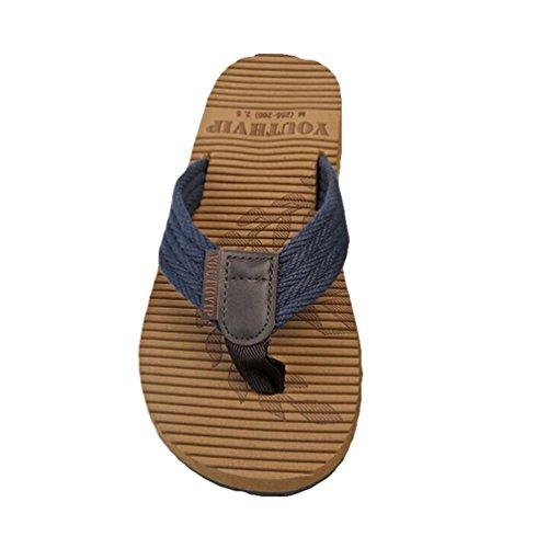 Yiiquan Homme Eté Pantoufles Sandales de plage Clip Toe Tongs Bleu