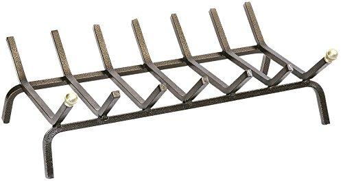 K2calore kt0555–griglia per camino, in ferro forgiato, 50x 28x 16cm