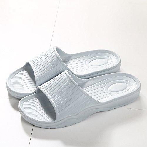 DogHaccd pantofole,Il bagno pantofole donna estate home soggiorno con una piscina slip coppie giapponese Minimalista bagno freddo pantofole Il grigio chiaro2