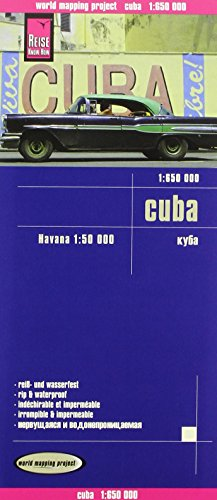 Cuba, mapa de carreteras impermeable. Escala 1:650.000. Reise Know How por VV.AA.