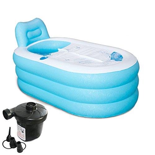 LXF Vasca da bagno gonfiabile Vasca da bagno gonfiabile più vasca pieghevole vasca da bagno vasca pieghevole in plastica vasca da bagno casa Viaggi Portable ( Colore : Electric pump , dimensioni : L. )