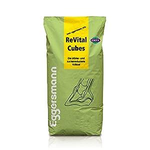 Hochwertiges, stärke- und zuckerarmes Spezialfutter ohne Getreide, Eggersmann ReVital Cubes für Pferde, 1-er Pack (1 x 25 kg)