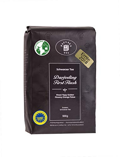 Paulsen Tee Schwarzer Tee Darjeeling First Flush Ernte 2018, 500g
