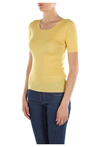 P24I45POLLINE Prada Pull Femme Laine Jaune Jaune